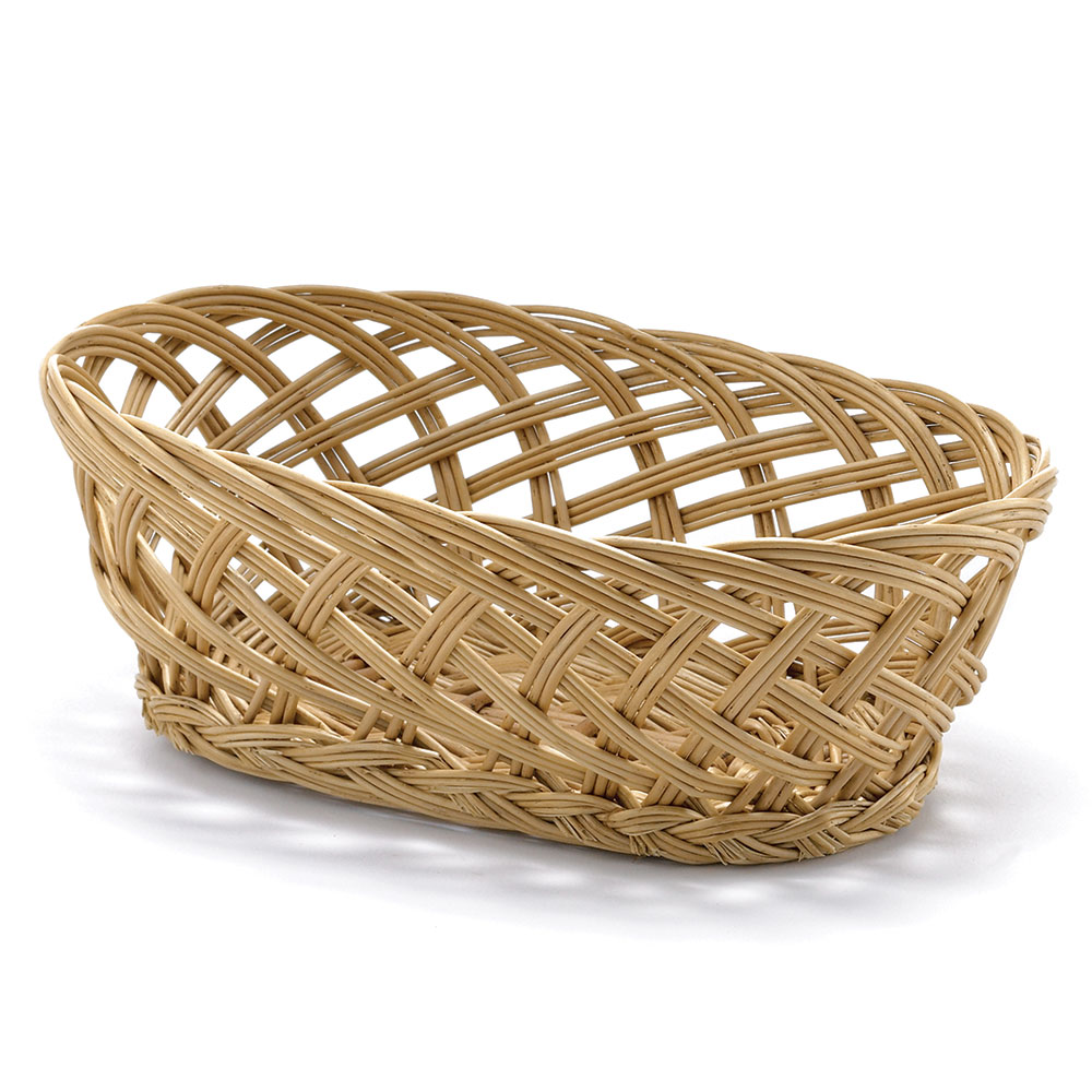 "Tablecraft 1636 Willow Basket, 10 x 6-1/2 x 3-1/4"", Oval, Open Weave"