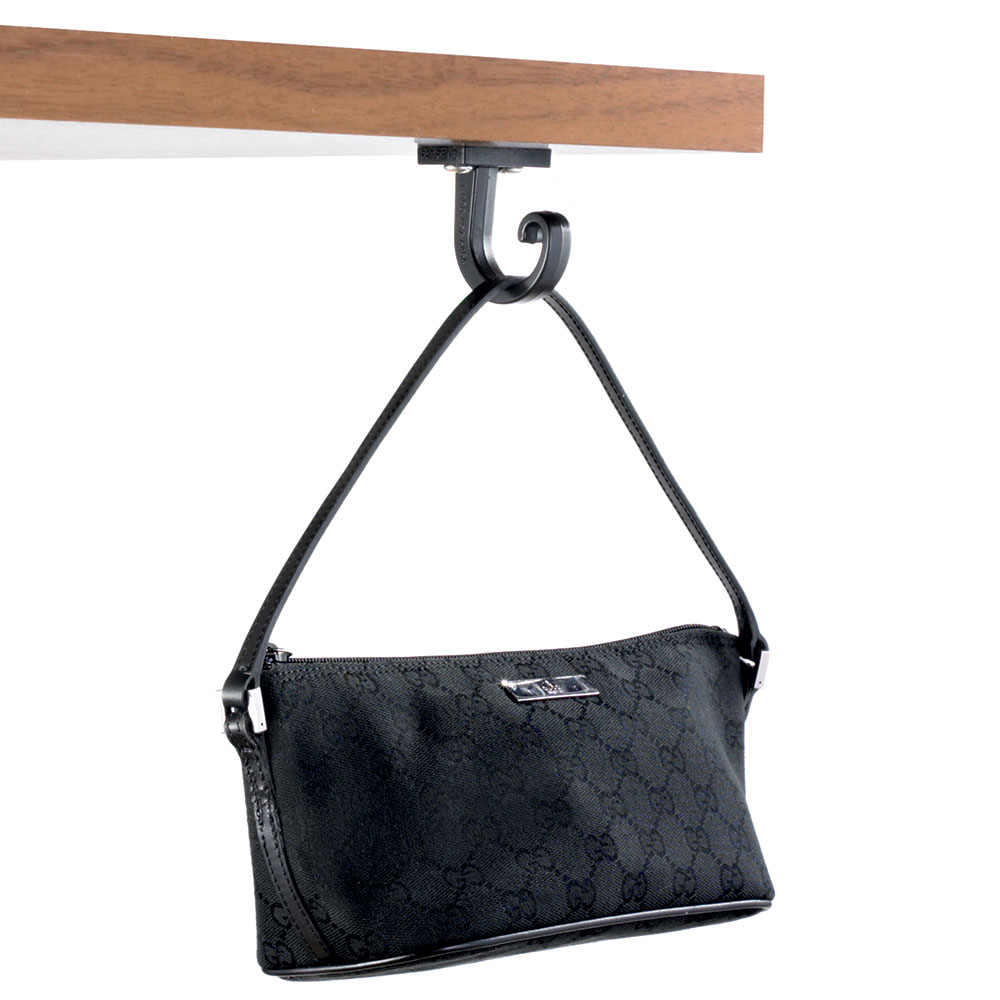 Tablecraft 1650 Plastic Bag Hooks, Includes Two Hooks & Screws, Black