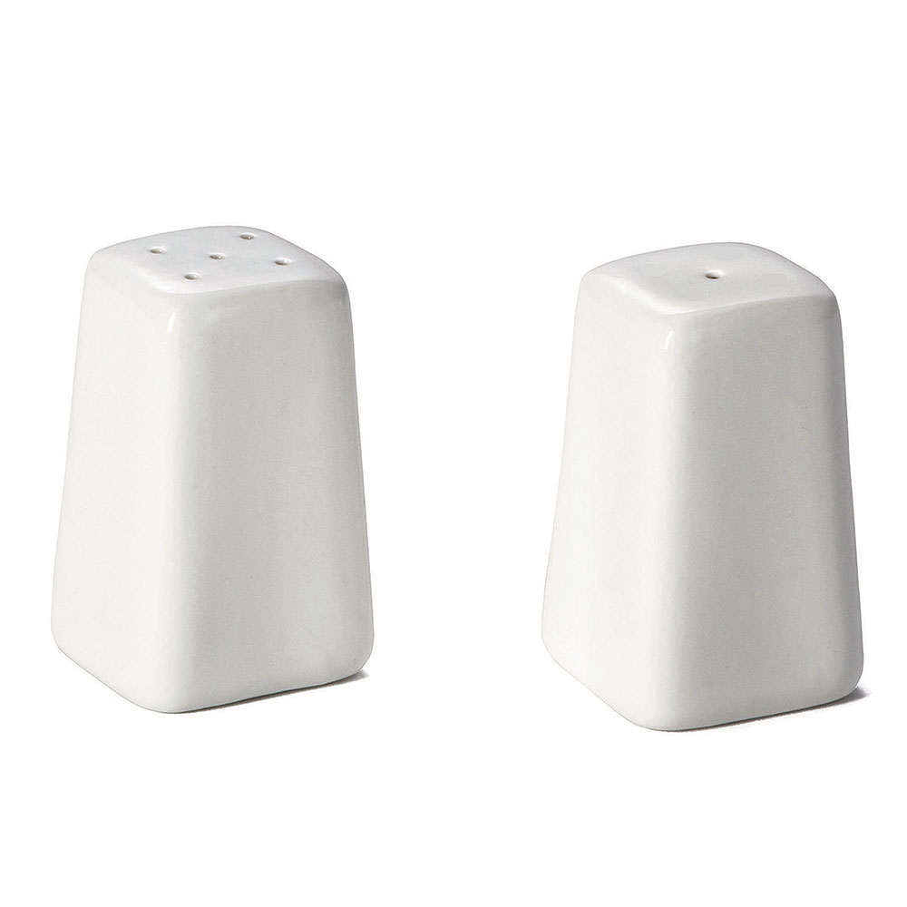 Tablecraft 168 Square Glacier Collection Salt & Pepper Shaker Set, Porcelain