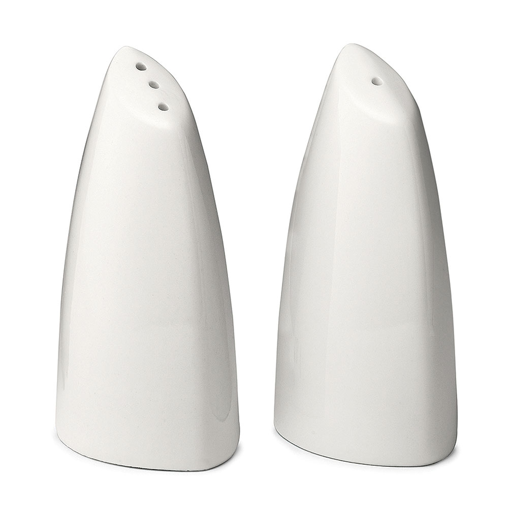 Tablecraft 182 Porcelain Salt & Pepper Shakers, 2 oz Capacity, White