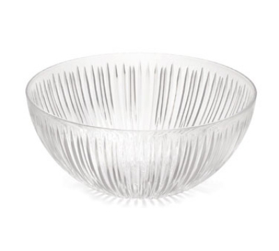 Tablecraft 18914 Round Starburst Design Crystalware Punch Bowl Restaurant Supply