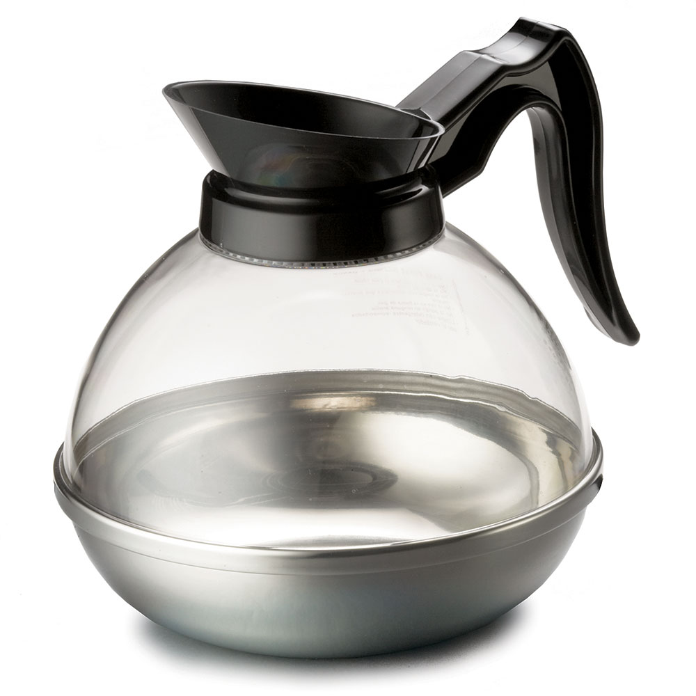 Tablecraft 18 64-oz Coffee Decanter, Poly w/ Stainless Base, Black Handle