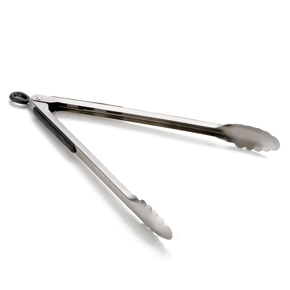 "Tablecraft 2016 14"" Stainless Steel Locking Tong, Ergonomic, Non Slip Grip"