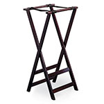 Tablecraft 21 Tray Stand, Teakwood, 2 Bottom Crossbars, Washable, Replaceable Webbing
