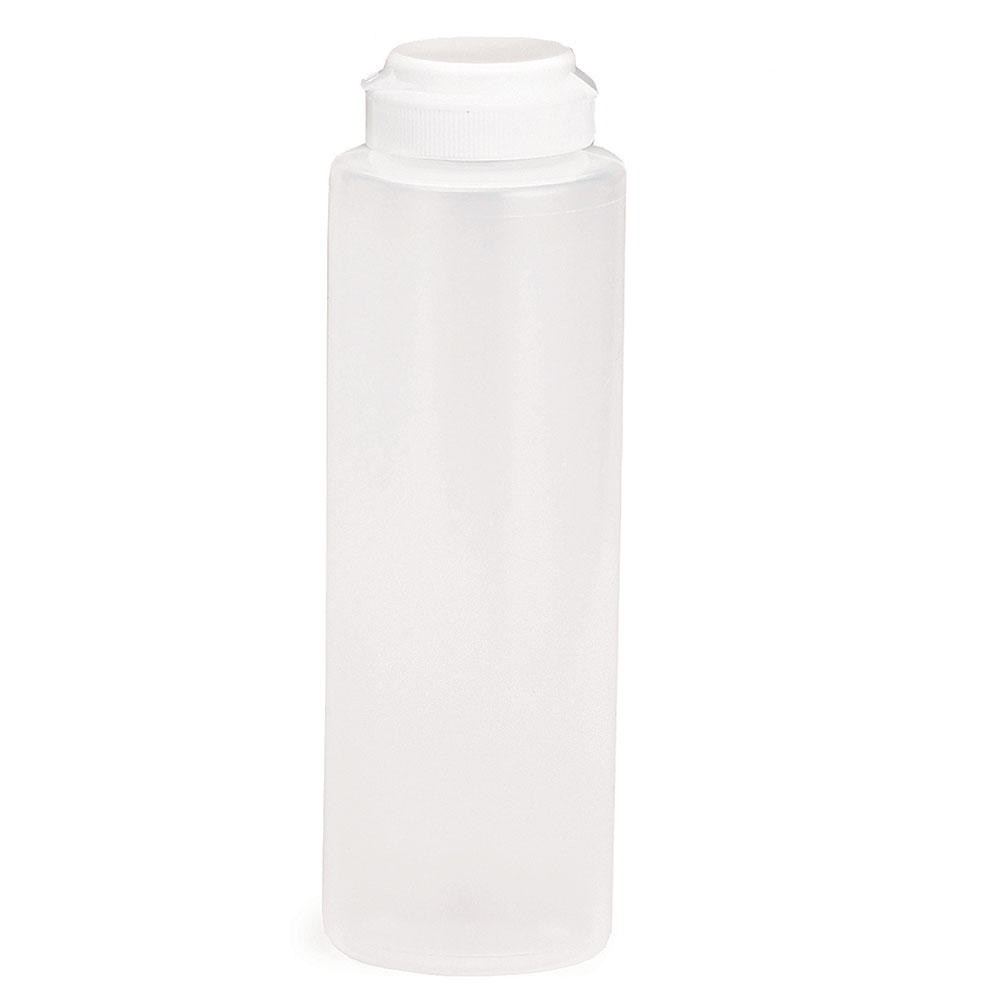 Tablecraft 2108C-1 8-oz Squeeze Dispenser, Soft Polyethylene, Natural, White