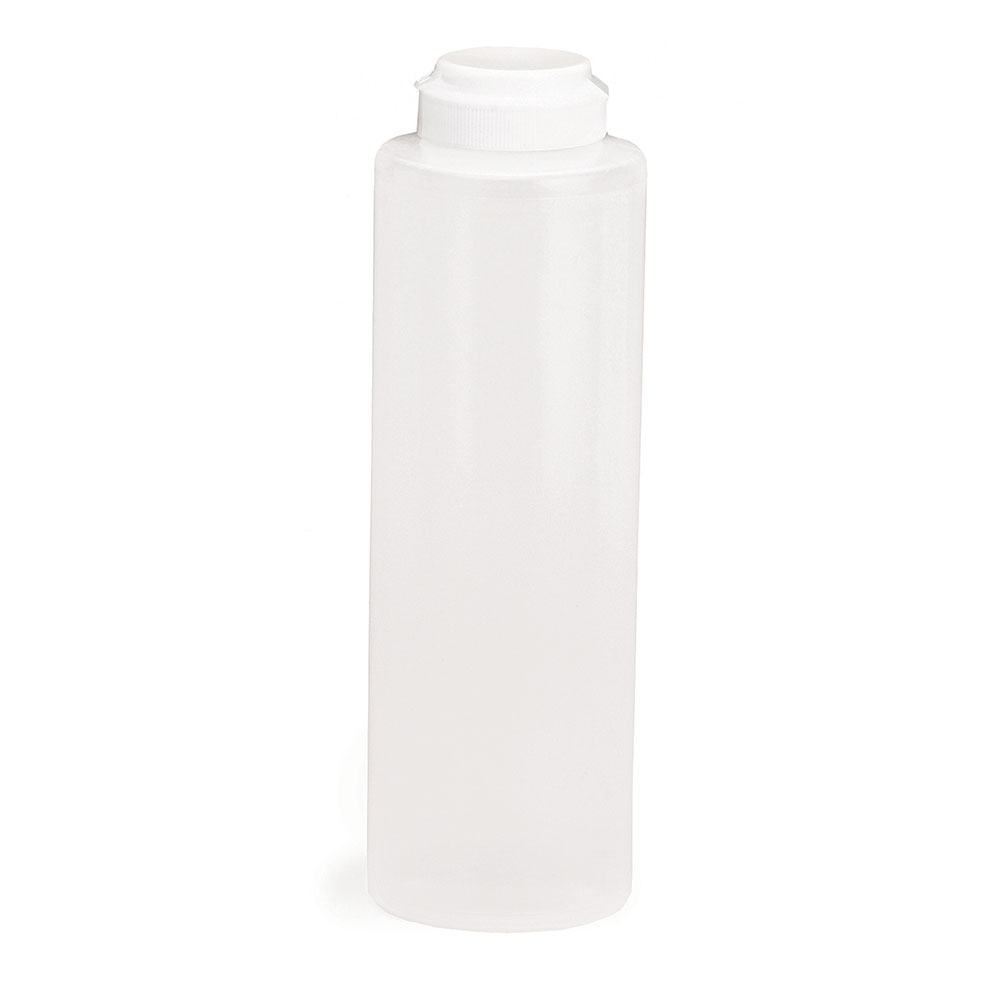 Tablecraft 2112C-1 12-oz Squeeze Dispenser, Soft Polyethylene, Natural, White