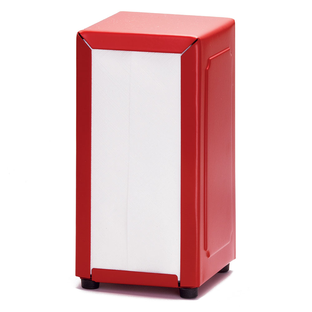 "Tablecraft 2211 Napkin Dispenser, 4-3/4 x 3-7/8 x 7-1/2"", Full Size, Red"