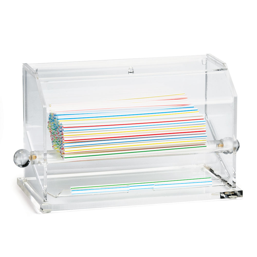 Tablecraft 227 Straw Dispenser, Acrylic, Clear