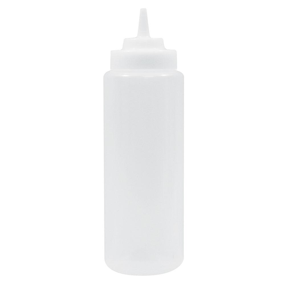 Tablecraft 23363C 32-oz Squeeze Dispenser, Soft Polyethylene, Natural, Wide Cone Tip