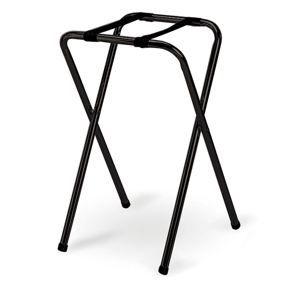 Tablecraft 23BK Tray Stand w/ Black Powder Coated Metal, Single Bar