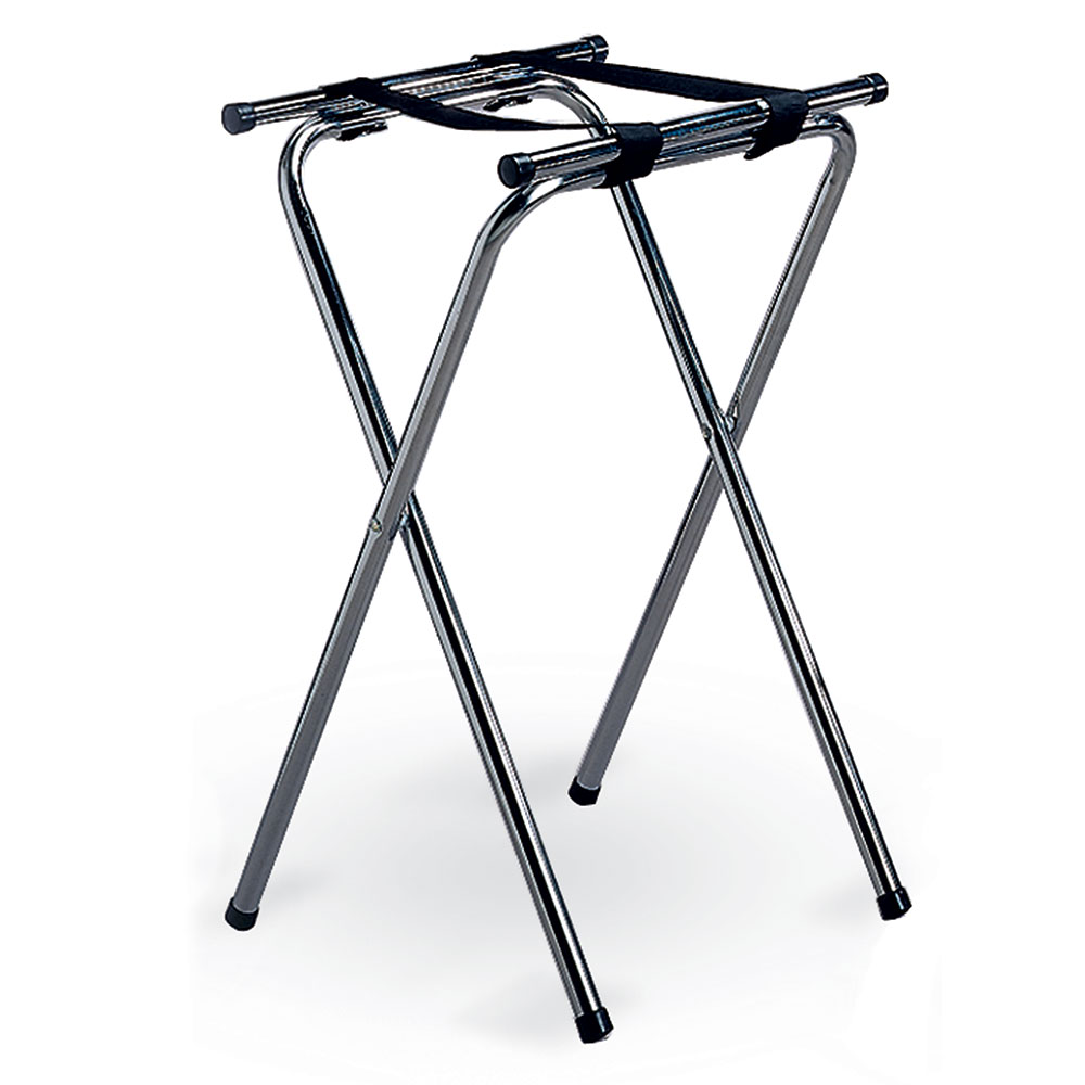 Tablecraft 24 tray stand w chrome plated tubular for Construction stand