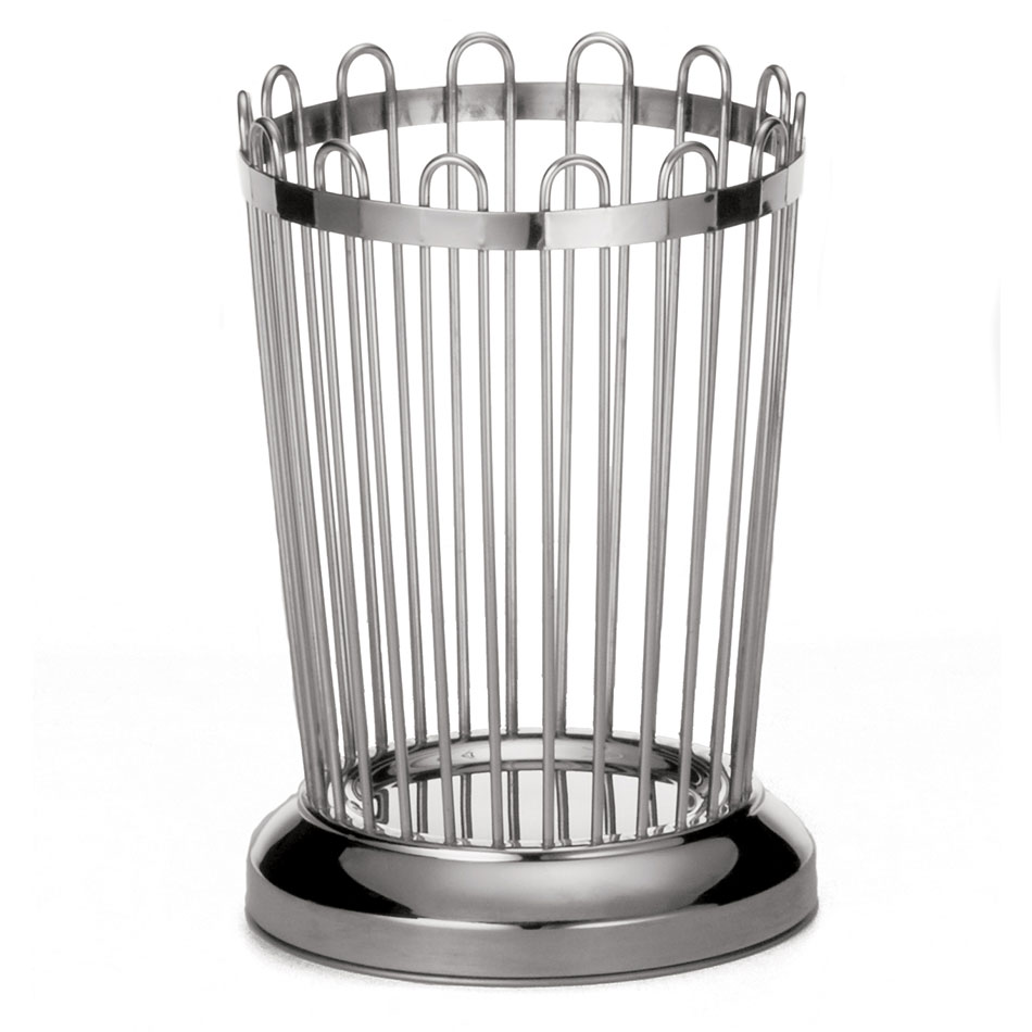 "Tablecraft 258 Bread Stick Holder, 3-1/4"" x 5-1/4"", 18-8 Stainless Steel"