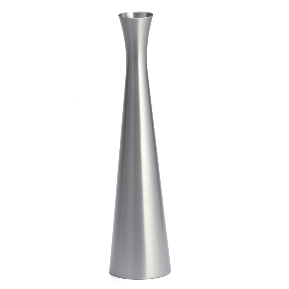 "Tablecraft 268 8"" Metal Flower Vase"