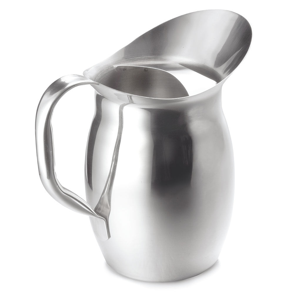 Tablecraft 300 2-1/8-Quart Water Pitcher w/ Ice Guard, Stainless Steel