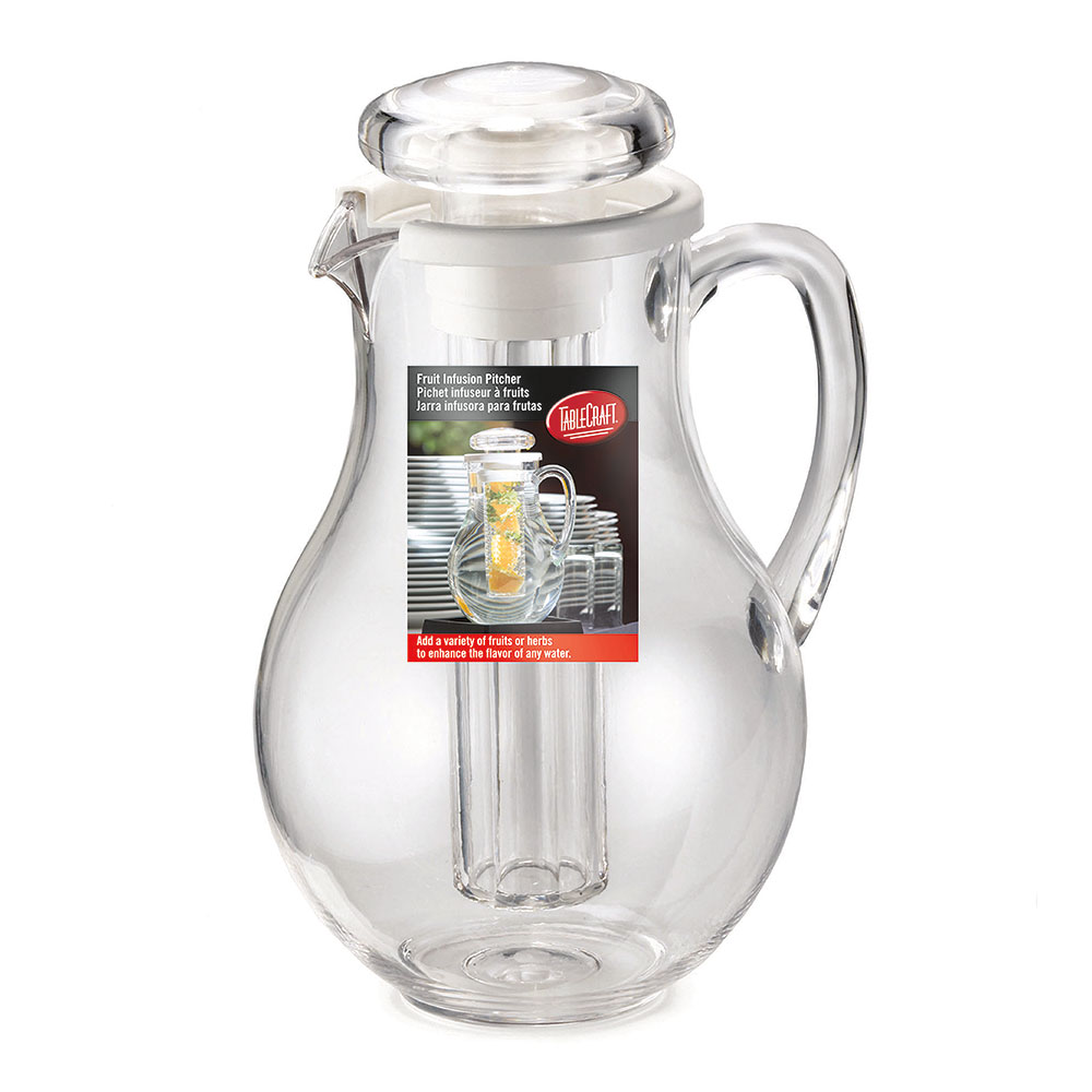 Tablecraft 319FIN 64-oz Pitcher w/ Infuser Tube, Polycarbonate