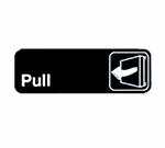 Tablecraft 394503 3 x 9-in Sign, Pull, Adhesive Back