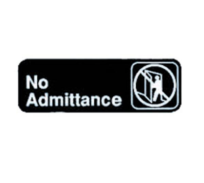 Tablecraft 394507 3 x 9-in Sign, No Admittance, Adhesive Back