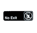 "Tablecraft 394508 3 x 9"" Sign, No Exit, Adhesive Back"