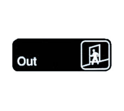 Tablecraft 394510 3 x 9-in Sign, Out, Adhesive Back