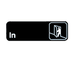 Tablecraft 394511 3 x 9-in Sign, In, Adhesive Back