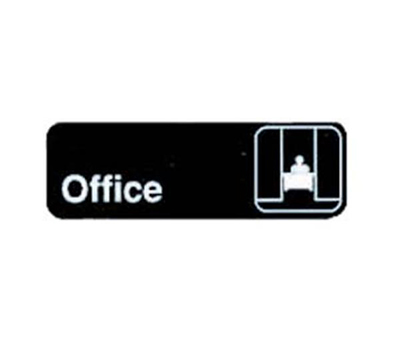 Tablecraft 394528 3 x 9-in Sign, Office, Adhesive Back