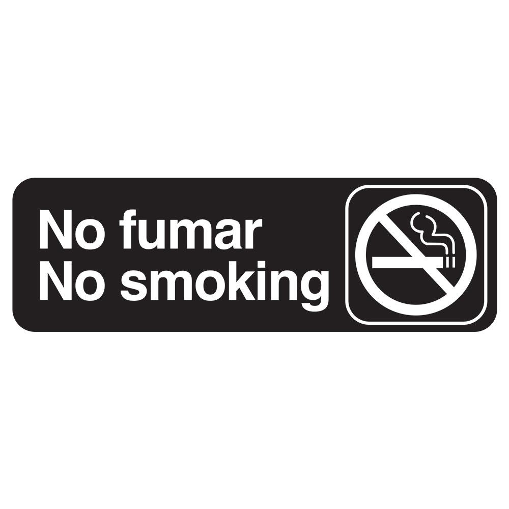 "Tablecraft 394589 3 x 9"" Sign, No Fumar / No Smoking - Spanish/English"