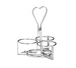 Tablecraft 406-3R 3-Ring Dispenser Condiment Rack, Chrome Plated Metal