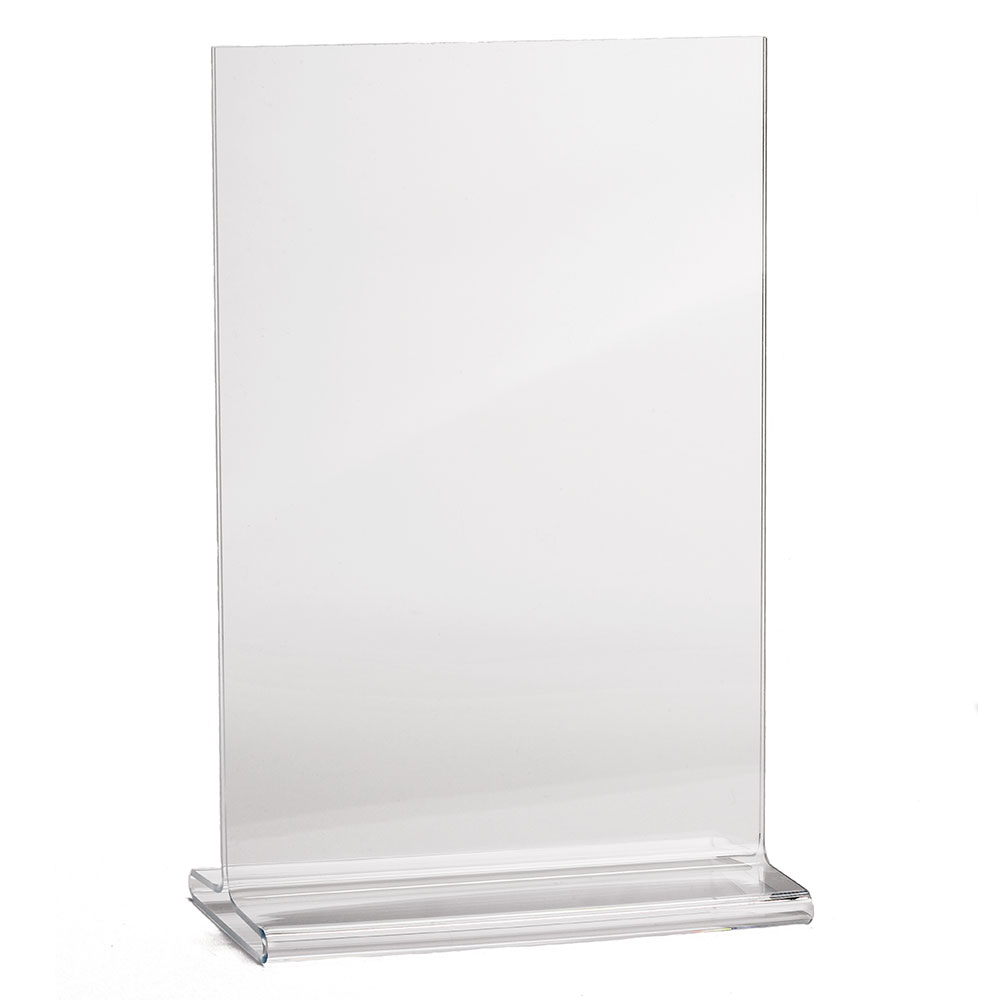 Tablecraft 4060 Two-Sided Menu Holder, 4-in x 6-in, Acrylic