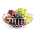 """Tablecraft 4170 Round Chalet Basket, 8-1/8 x 2-3/4"""", Chrome Plated"""