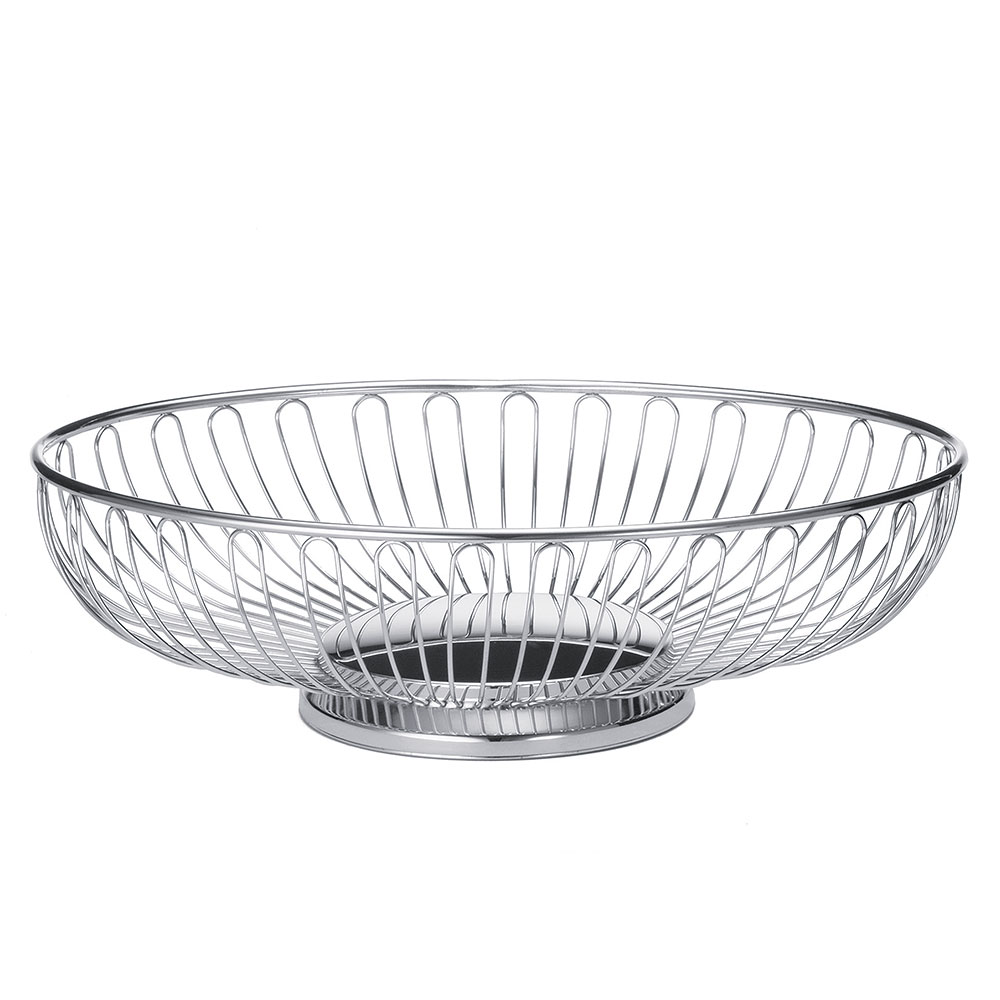 Tablecraft 4176 Bread Basket, Basket, Chrome Plated, Oval