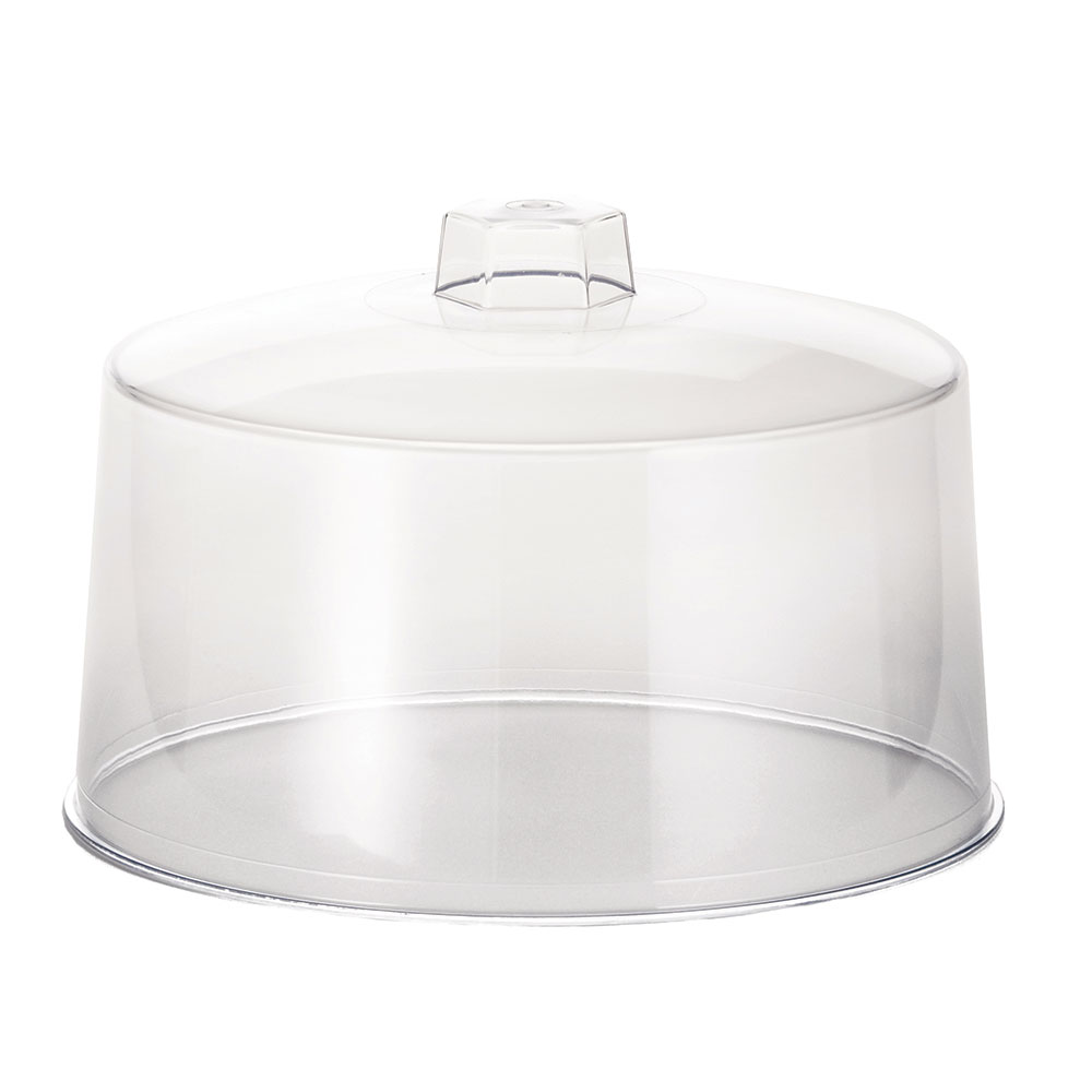 "Tablecraft 421 Styrene Cake Cover, 12 x 7-1/2"", Plastic Handle"