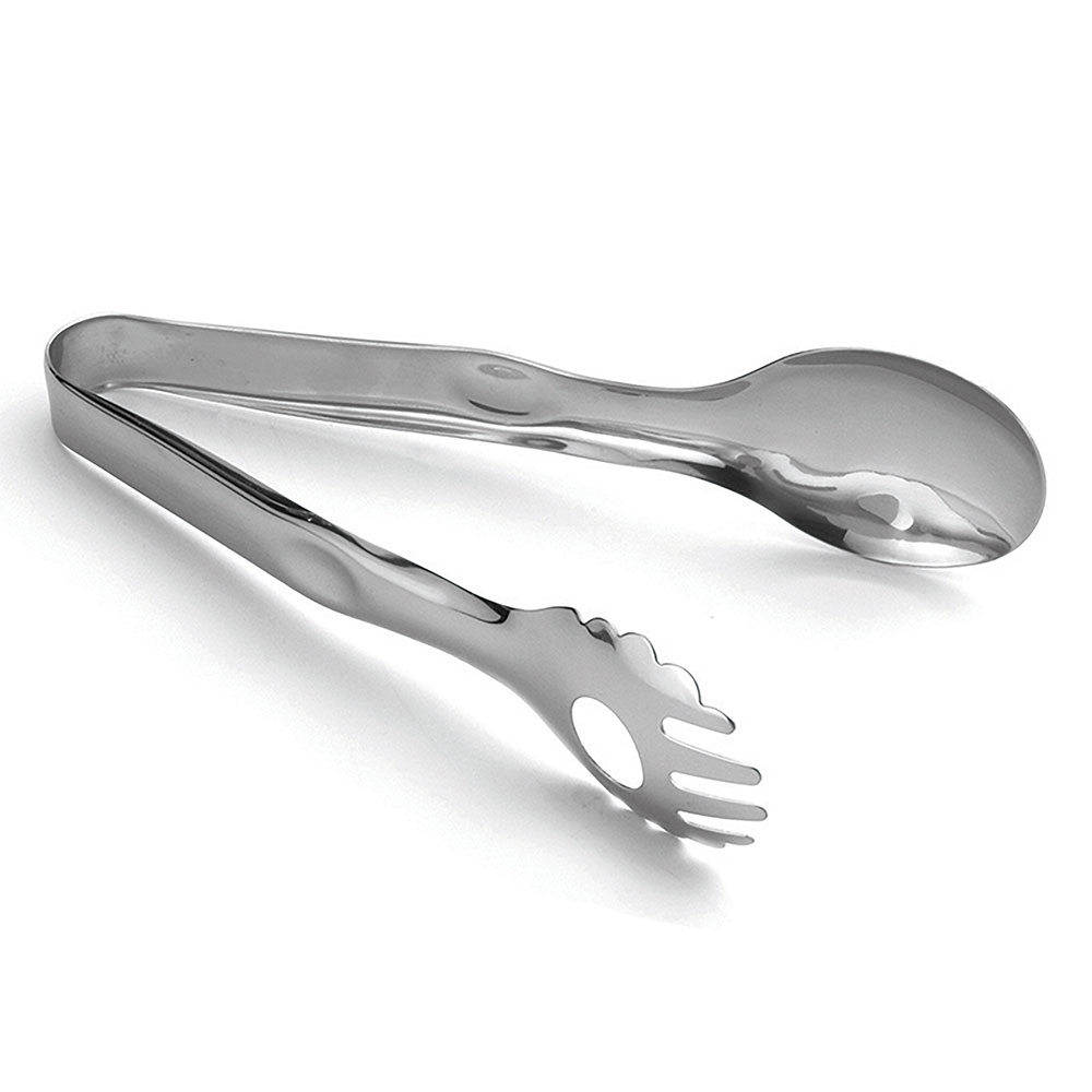 "Tablecraft 4402 Stainless Steel Serving Tongs, 8.5""L"