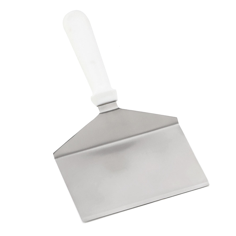 """Tablecraft 461W 11"""" Turner w/ Squared Stainless Steel Blade, White ABS Handle"""