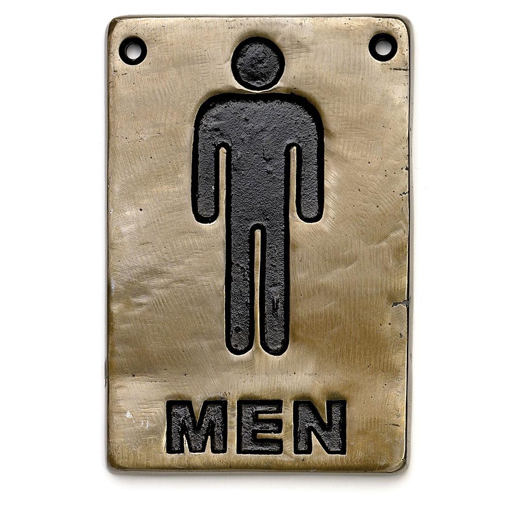 Tablecraft 465635 Sign, 4 x 6, Men Restroom, Antique Bronze