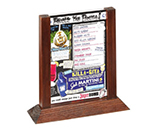 Tablecraft 5070WMA 2-Sided Wood Menu Holder w/ Vinyl Protector, 5 x 7-in, Mahogany