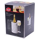 """Tablecraft 5488W White Marble Wine Cooler, 5 x 7"""""""