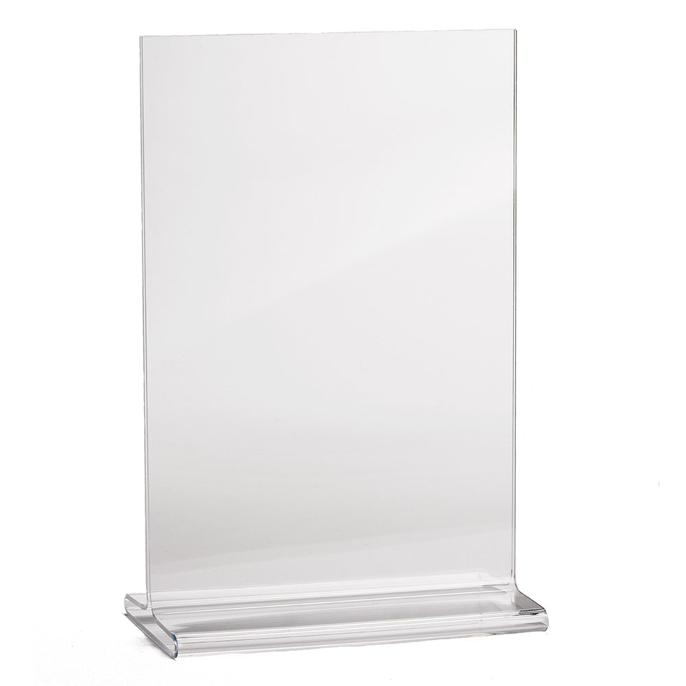 "Tablecraft 5585 Tabletop Menu Card Holder - 5.5"" x 8.5"", Acrylic"