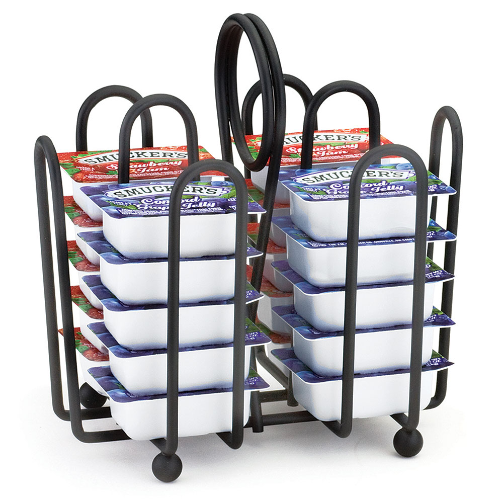 """Tablecraft 597CBK Black Metal Jelly Packet Rack, Fits Packets Up To 2 x 1-1/2"""""""