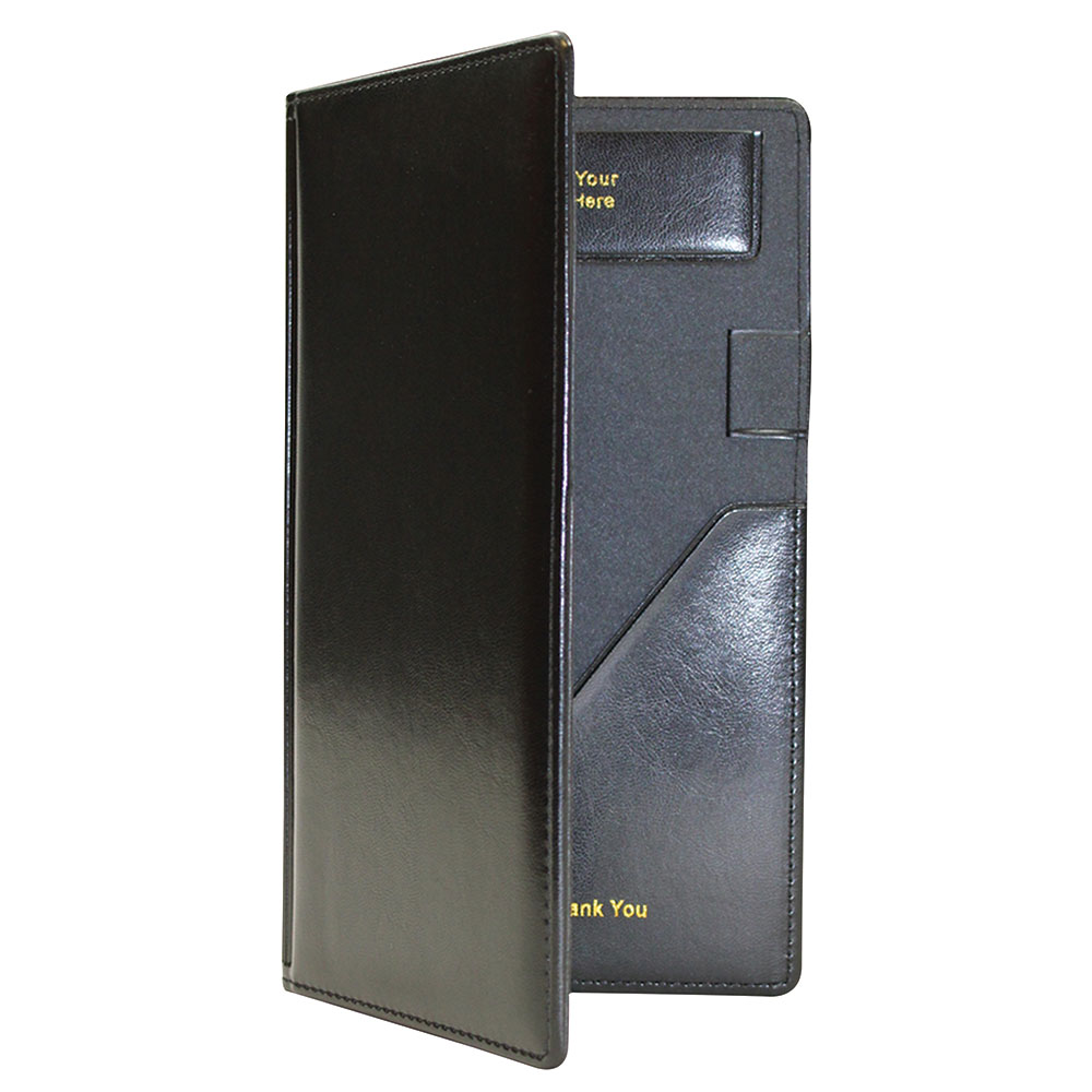 Tablecraft 59BK Check Presentation Holder, Black w/ Gold ...