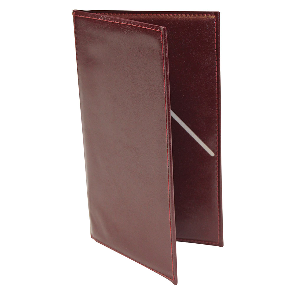 Tablecraft 59BU Check Presentation Holder, Burgundy w/ Gold Imprinted Thank You