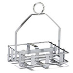 Tablecraft 609R Salt Pepper Rack, For 2-1/8-in D Shakers & Sugar Packs