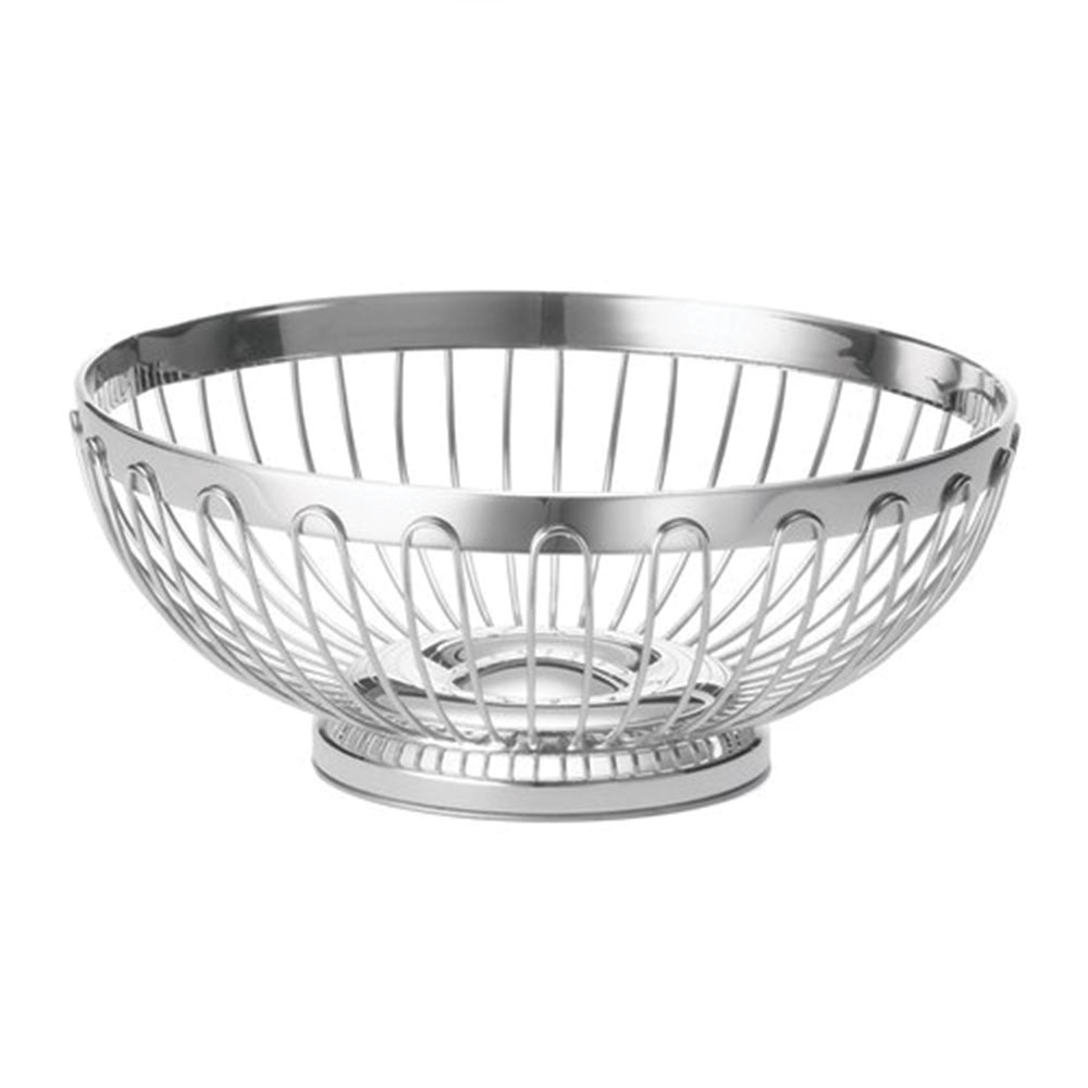 "Tablecraft 6175 Round Regent Basket, 10 x 3-3/4"", Stainless Steel"