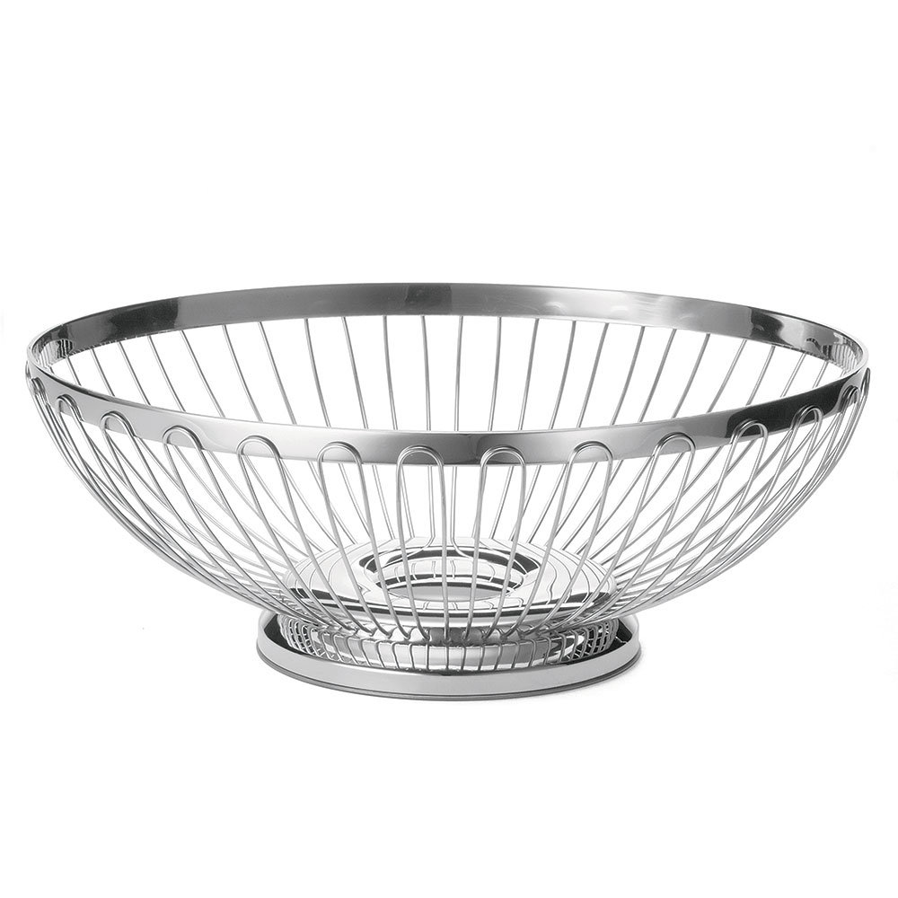 "Tablecraft 6176 Oval Regent Basket, 11 x 8-1/4 x 3-3/4"", 18-8 Stainless Steel"