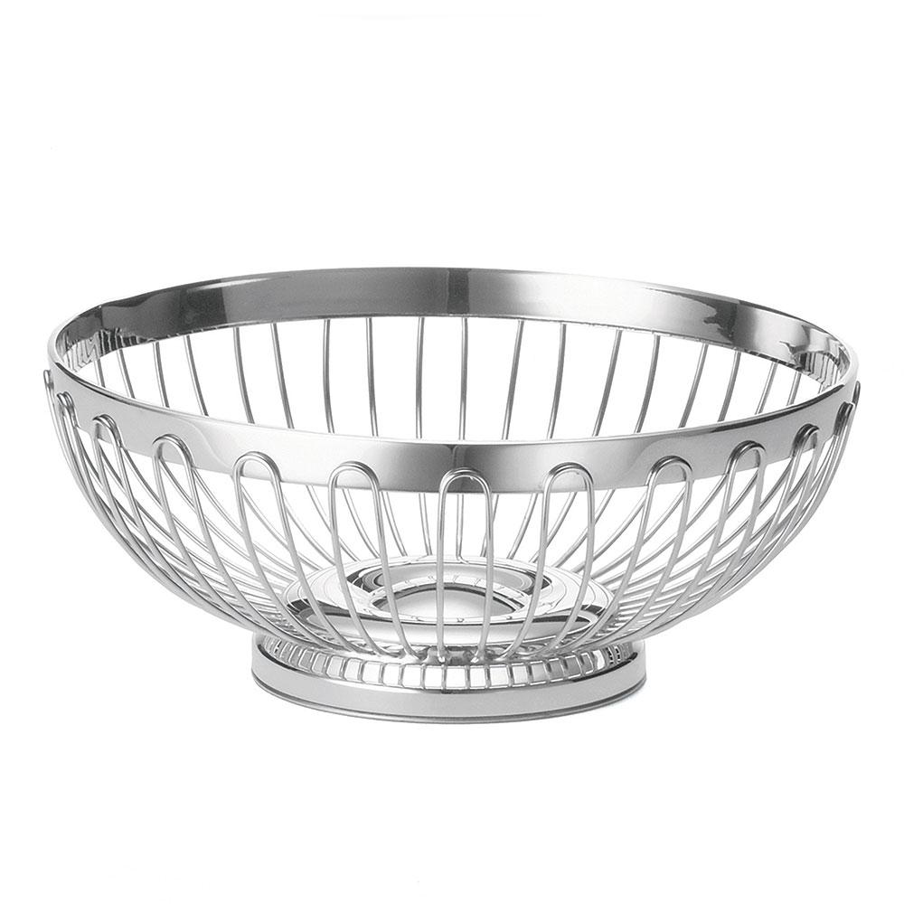 """Tablecraft 6177 Round Regent Basket, 10 x 3-3/4"""", 18-8 Stainless Steel"""