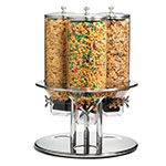 """Tablecraft 693 50-oz Cereal Dispenser - 19-1/2x19-1/2x26-1/2"""" Poly/Stainless"""