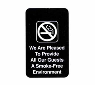 Tablecraft 695601 6 x 9-in Sign, Smoke-Free, Adhesive Back