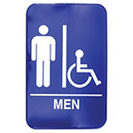 Tablecraft 695631A 6 x 9-in Sign, Men / Accessible Sign w/ Handicapped Symbol, Braille