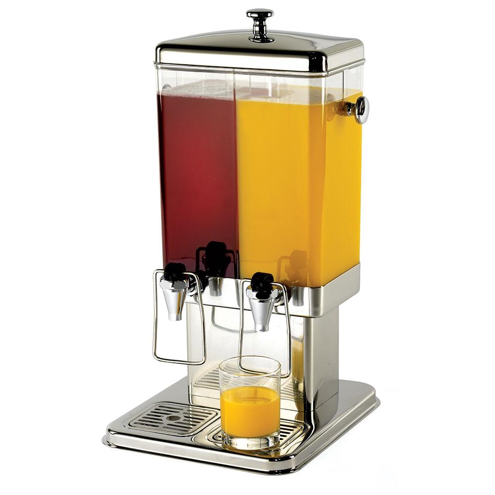 Tablecraft 70 3 Gal Beverage Dispenser, 2 Reservoirs, Polycarbonate w/ Stainless Steel Base