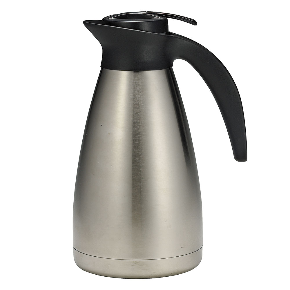 Tablecraft 734 34-oz Stainless Steel Coffee Decanter w/ Plastic Thumb Press