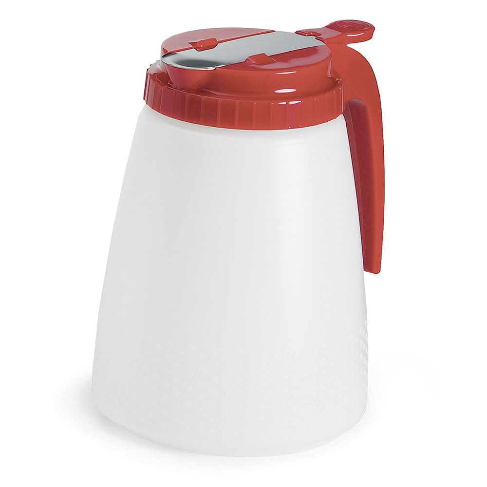 Tablecraft 748R Liquid Dispenser, 48 oz., Red ABS Top, All Purpose